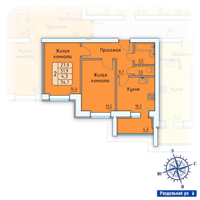 Планировка квартиры (помещения) 161                                                         , Позиция 3.