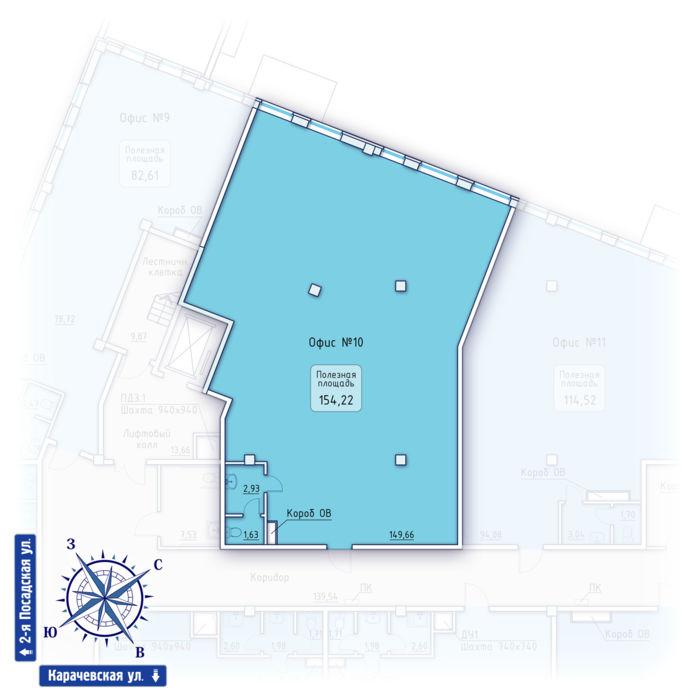 Планировка квартиры (помещения) 10                                                         , ЖК «Зенит» Коммерческие помещения