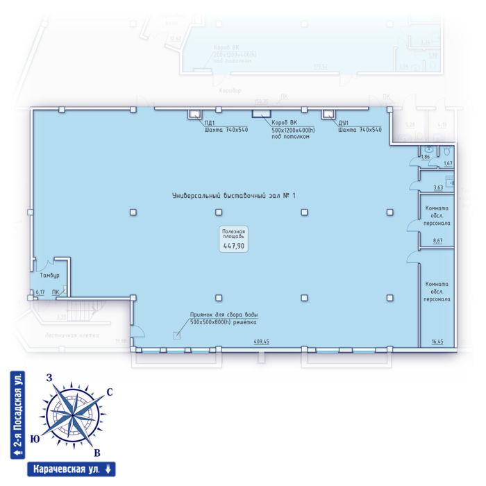 Планировка квартиры (помещения) 1                                                         , ЖК «Зенит» Коммерческие помещения