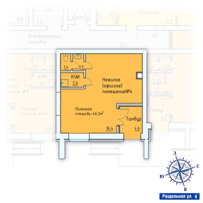 Планировка квартиры (помещения) 4                                                         , ЖК