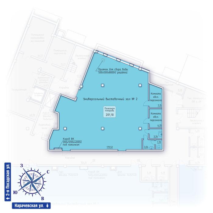 Планировка квартиры (помещения) 2                                                         , ЖК «Зенит» Коммерческие помещения