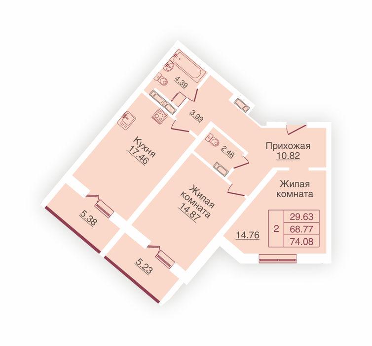 Планировка квартиры (помещения) 10                                                         , ЖК «Панорама»