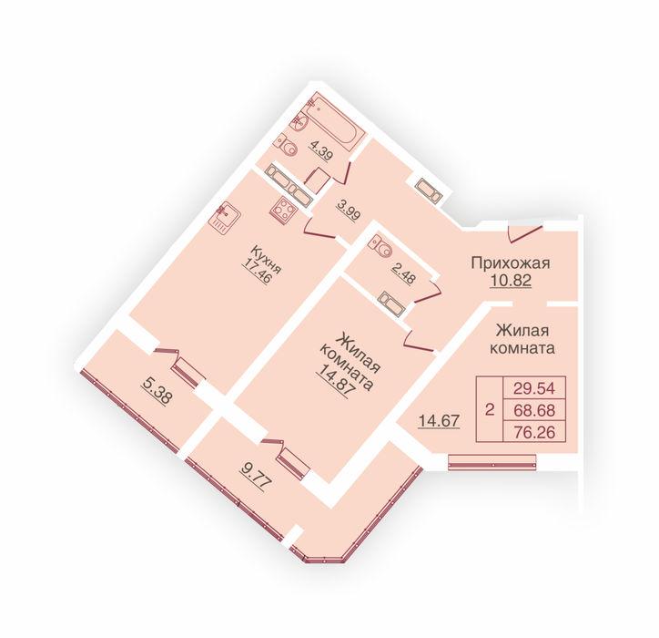 Планировка квартиры (помещения) 101                                                         , ЖК «Панорама»