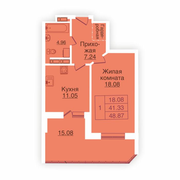 Планировка квартиры (помещения) 216                                                         , ЖК «Панорама»