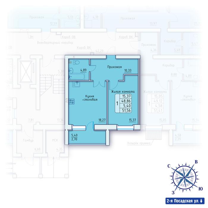 Планировка квартиры (помещения) 6                                                         , ЖК «Зенит»