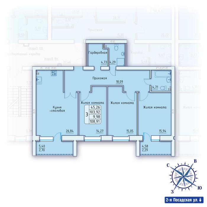 Планировка квартиры (помещения) 16                                                         , ЖК «Зенит»