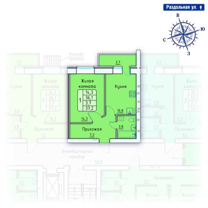 Планировка квартиры (помещения) 148                                                         , Позиция 4.