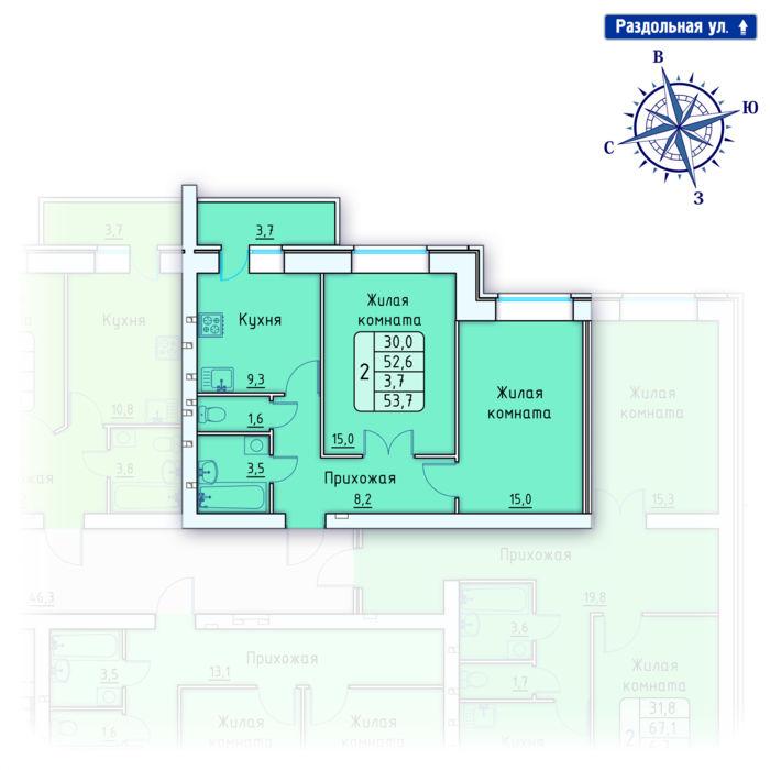 Планировка квартиры (помещения) 149                                                         , Позиция 4.