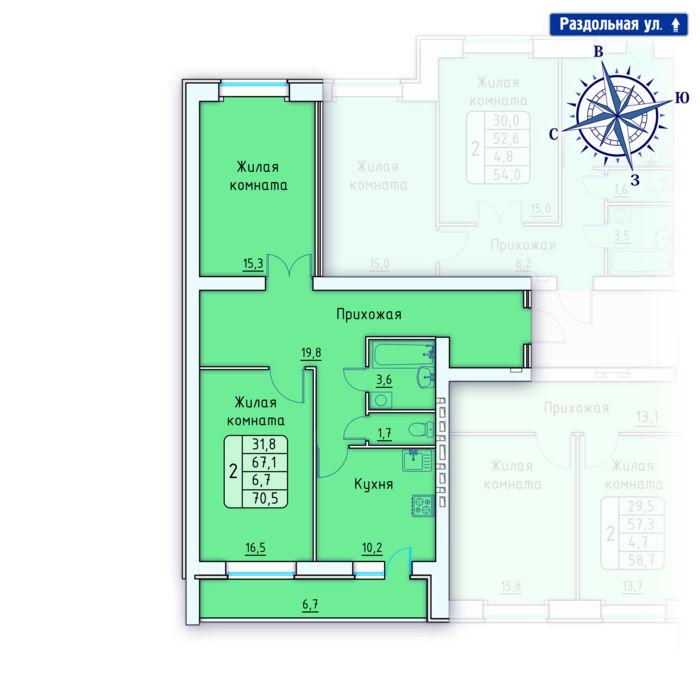 Планировка квартиры (помещения) 10                                                         , Позиция 4.