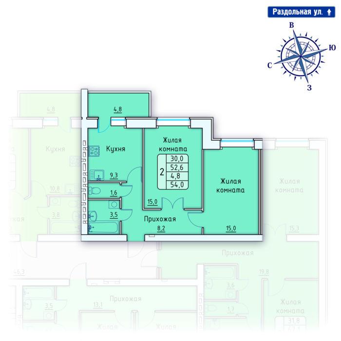 Планировка квартиры (помещения) 165                                                         , Позиция 4.