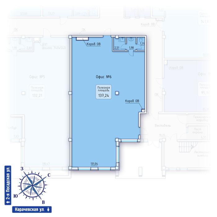 Планировка квартиры (помещения) 6                                                         , ЖК