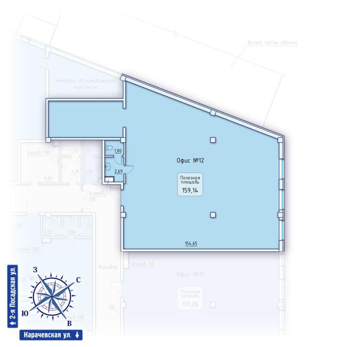 Планировка квартиры (помещения) 12                                                         , ЖК