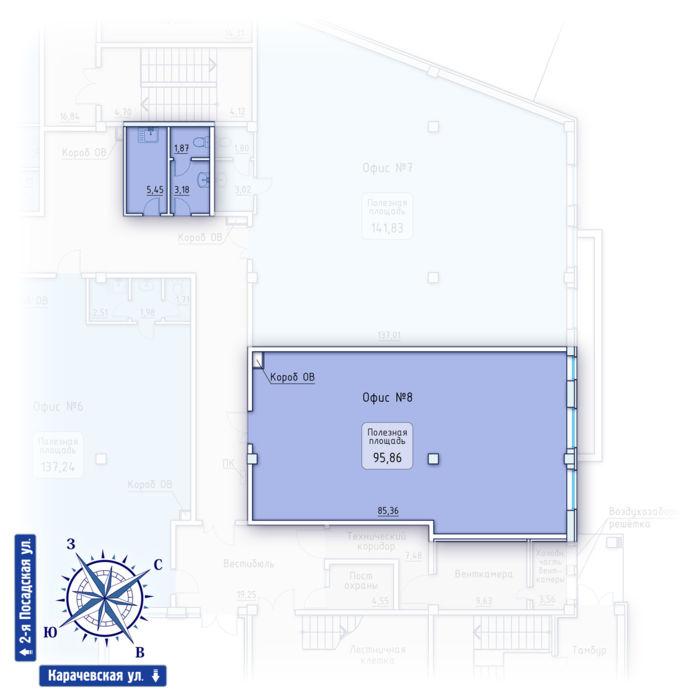 Планировка квартиры (помещения) 8                                                         , ЖК