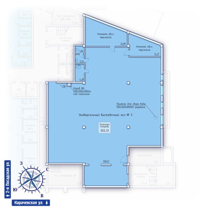 Планировка квартиры (помещения) 3                                                         , ЖК «Зенит» Коммерческие помещения