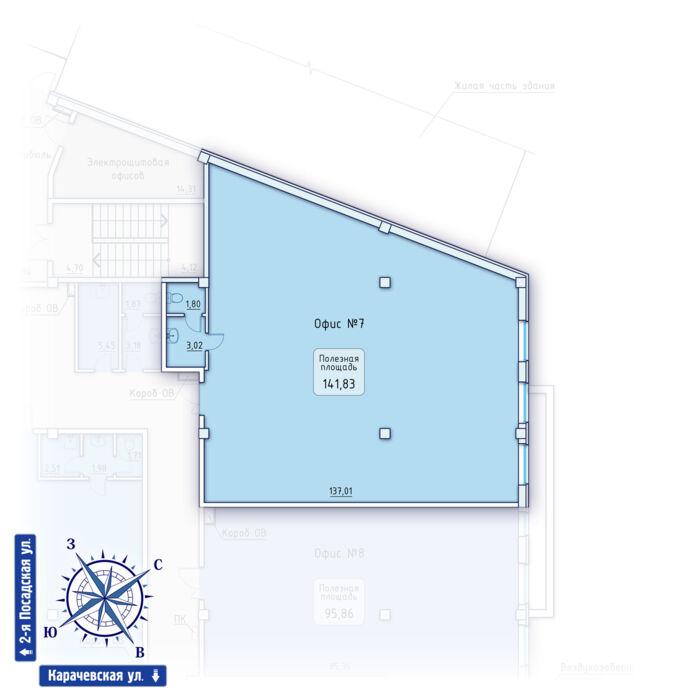 Планировка квартиры (помещения) 7                                                         , ЖК
